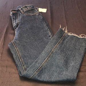 Women's Denim Fringed Jeans